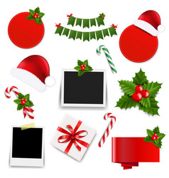 xmas collection vector image vector image