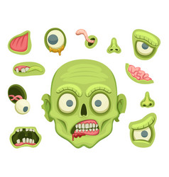 zombie creation kit scary portrait with different vector image