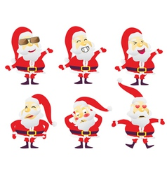 Santa in various characters vector