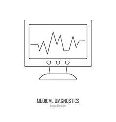 Medical diagnostic checkup graphic design concept vector