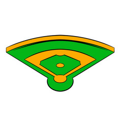 baseball field icon icon cartoon vector image