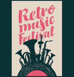 poster for the retro music festival vector image