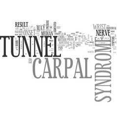 What you need to know about carpal tunnel vector