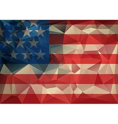 Abstract polygonal triangle usa flag background vector