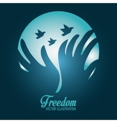 Freedom icons design vector