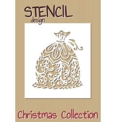 Stencil design template christmas collection vector