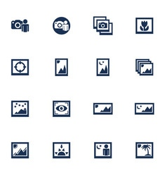 Media photo icons vector image