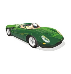 Green sportscar vector
