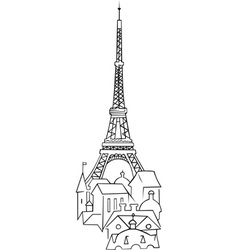 Eiffel tower in france vector
