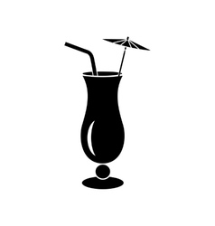 Alcoholic cocktail icon simple style vector