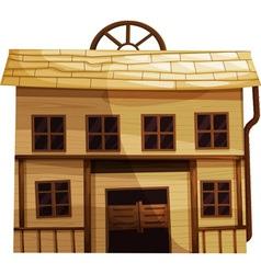 Wild west room vector image