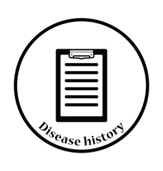Disease history icon vector