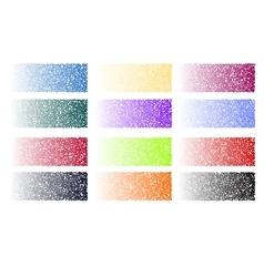Halftone blocks set background vector