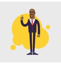 African American vector image
