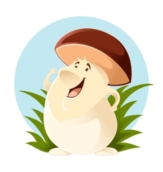 Cartoon happy Mushroom vector image