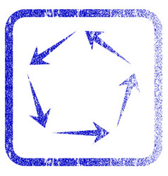 Circulation framed textured icon vector