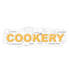 cookery icons for education graphic design vector image vector image