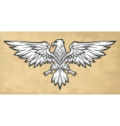 Eagle mascot spread wings Vintage style vector image