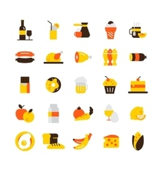 Food icons set vector