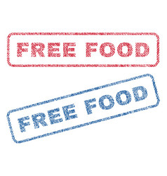 Free food textile stamps vector