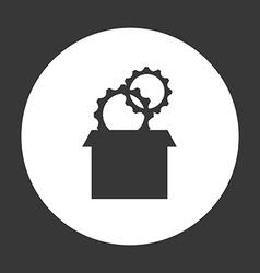 Gears settings vector