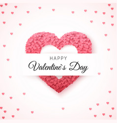 happy valentines day greeting card greeting card vector image vector image