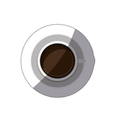 Isolated coffee drink design vector