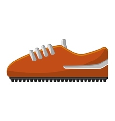 Isolated shoes of soccer design vector