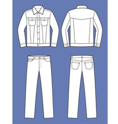Jeans wear vector image