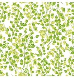 Little green leaves seamless pattern vector image vector image