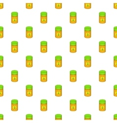 Medical marijua bottle pattern cartoon style vector image