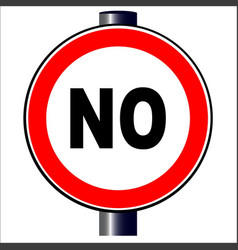 no traffic sign vector image vector image