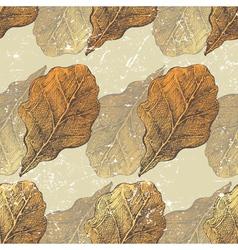 oak leaves seamless vector image vector image