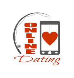online dating app concept vector image vector image