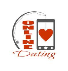 Online dating app concept vector