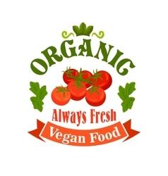 Organic vegan food tomatoes icon vector image vector image