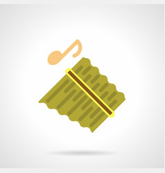 Pan flute instrument flat color icon vector