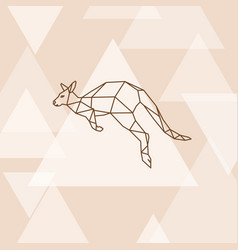 Polygonal of australian kangaroo vector