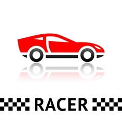 Race car symbol vector image