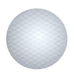 realistic white silhouette golf ball sport element vector image vector image