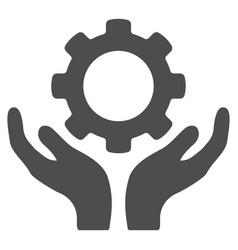 Repair service hands icon vector