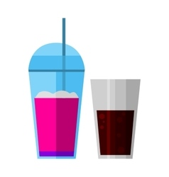 Smoothies drink glass vector image