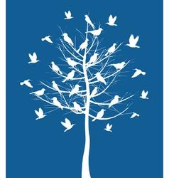 tree birds vector image vector image