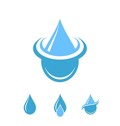 Water Logo Isolated drops on white background vector image vector image