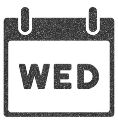 Wednesday calendar page grainy texture icon vector