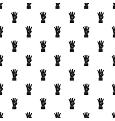 Hand gesture four fingers pattern simple style vector