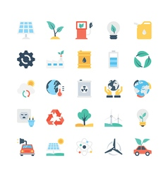 Nature and Ecology Icons 1 vector image
