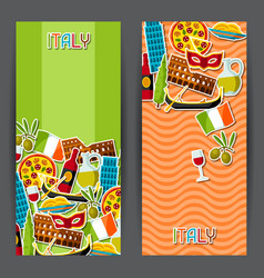Italy banners design italian sticker symbols and vector