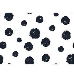seamless polka dot pattern hand painted grunge vector image