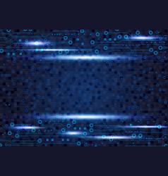 Blue circuit board background design for digital vector